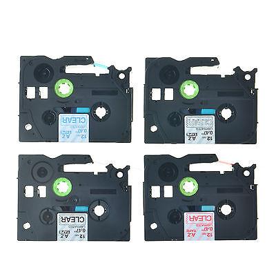 4PK TZ131 TZ132 TZ133 TZ135 12mm Tapes For Brother P-touch PT-D210 Label Maker