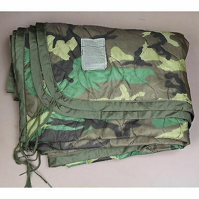 Poncho Liner Woobie Blanket Woodland Camouflage New Military Issue