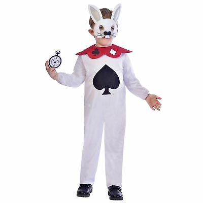 Alice im Wunderland Mädchen Jungen Ostern weißen Kaninchen hare Maskenkostüm (Weißes Kaninchen Kostüm Alice Im Wunderland)