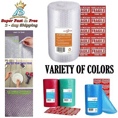 Bubble Wrap Roll Wrap Packaging Cushion Shipping Supplies With Fragile Stickers