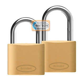 BRASS-PADLOCK-20-25-30-35-40-50mm-Suitcase-Locker-Luggage-Toolbox-Long-Shackle