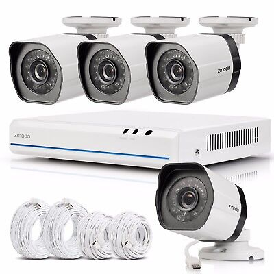 Zmodo 4CH 1080p Simplified PoE NVR 720p Security Camera System BLACK FRIDAY DEAL