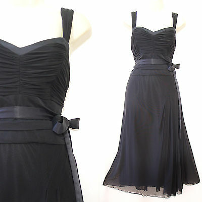 Black christmas party dress size 14 - ladies occasion cocktail evening - Next