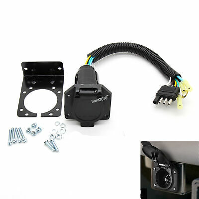 Trailer Hitch Car - RV Trailer Converter Connector Wiring Plug & Bracket Car Truck Trailer Hitch