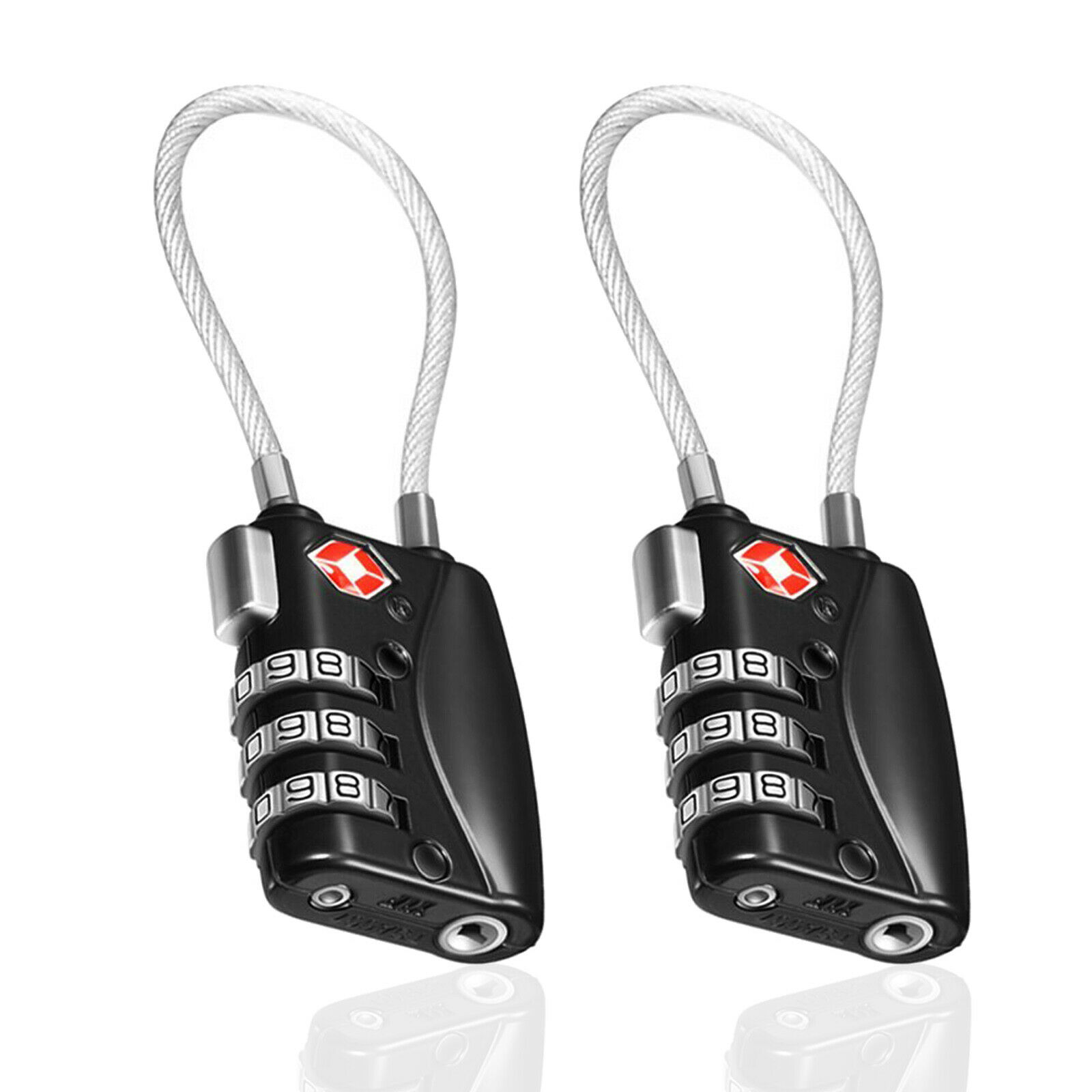 TSA Approve 3 Digit Combination Travel Suitcase Luggage Bag Lock Padlock Reset - $10.44