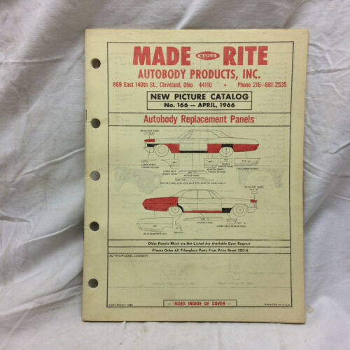 Vintage 1966 Picture Catalog Made Rite Autobody Products Cleveland Ohio