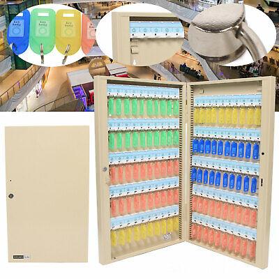 100 Keys Safe Wall Mount Holder Cabinet Storage Hooks Lock Box Key Lock Box