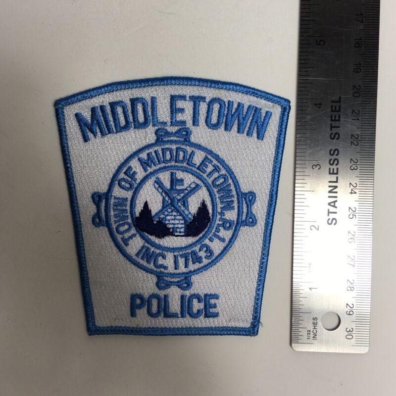 MIDDLETOWN RI POLICE PATCH RHODE ISLAND EMBLEM BLUE 1743