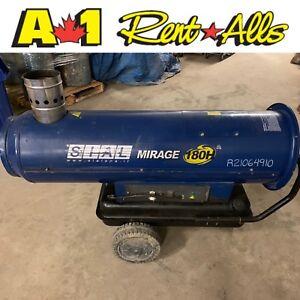 Heater, 180,000 btu/hr diesel