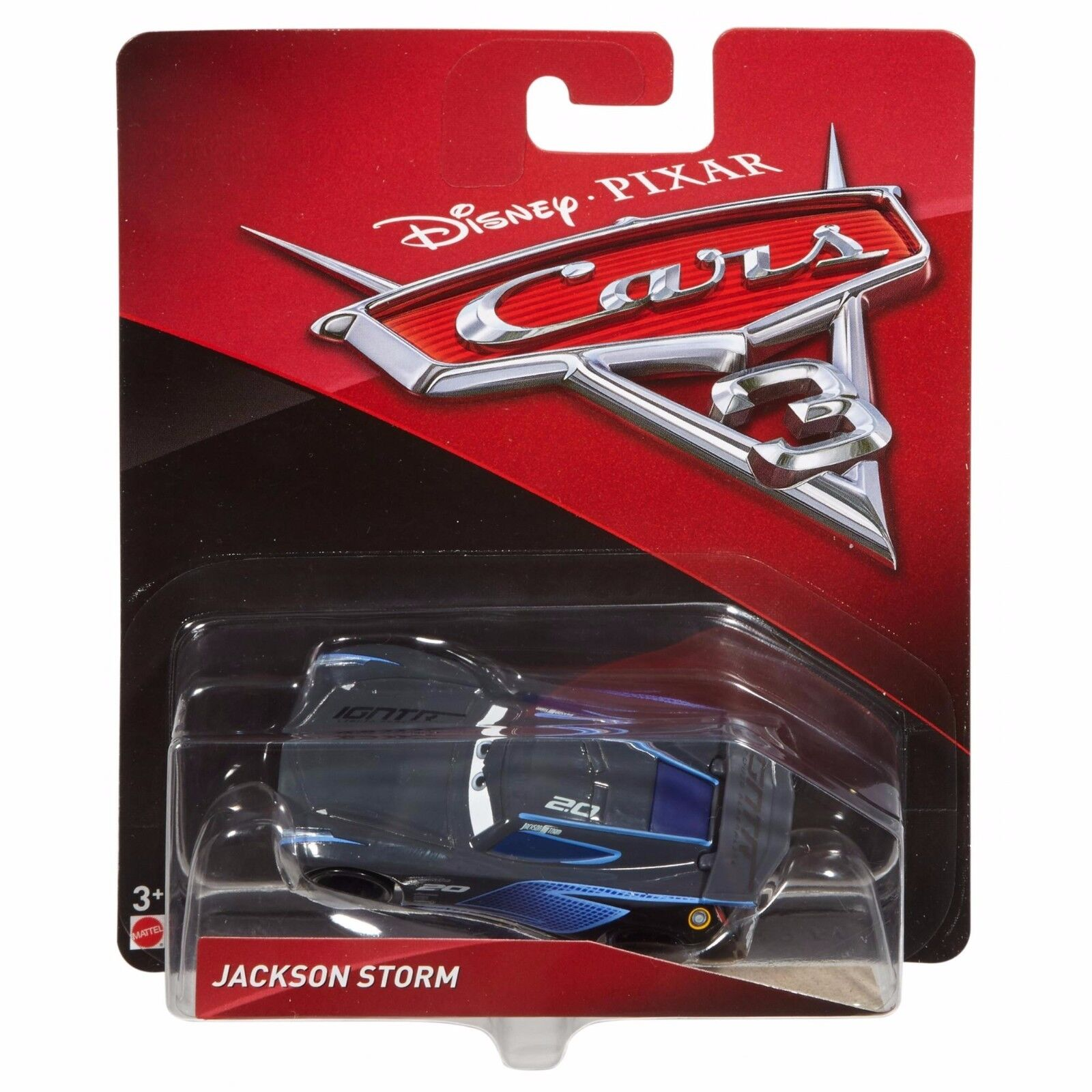 Купить Mattel - NEW! Disney-Pixar Cars 3 Jackson Storm Diecast # 20 1:55 Scale Die-cast Vehicle