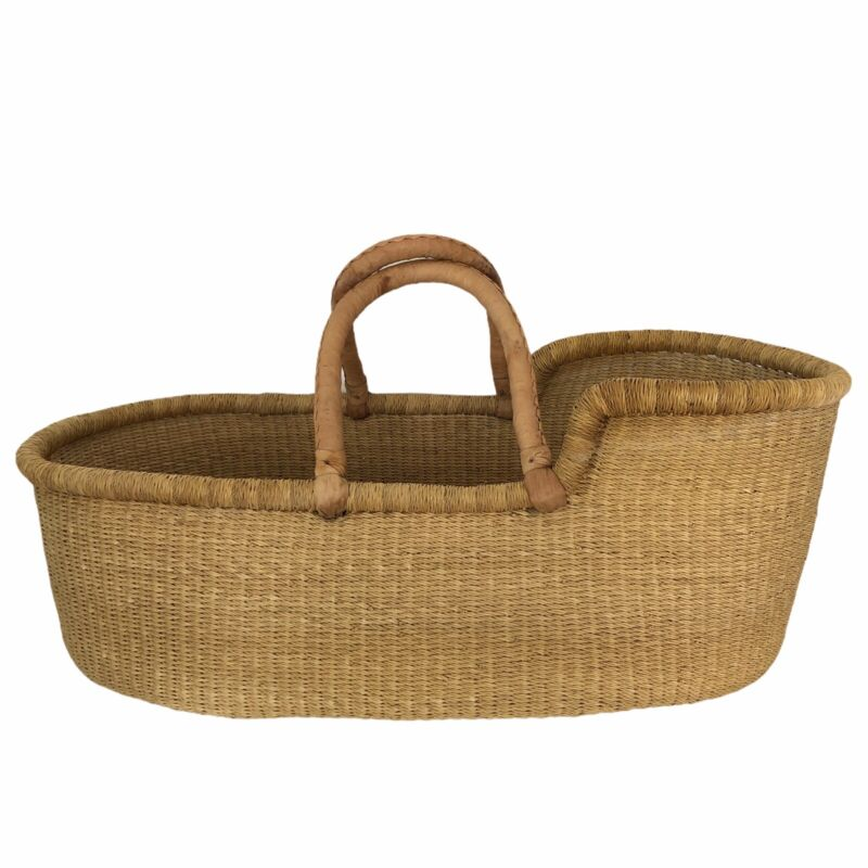 Plum + Sparrow Moses Baby Basket Wheat Hand Woven