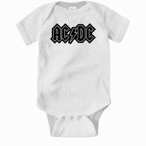 AC/DC Romper. Cute Baby Clothes One Piece Jump Suit Bodysuit