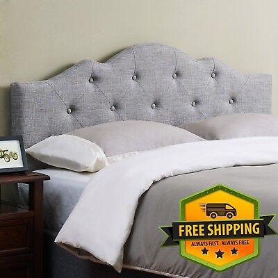 Modern Gray Padded Upholstered Headboard for California/Eastern King Size (California King King Size Headboard)