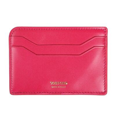 Tom Ford Red Leather Wallet Credit Card Holder