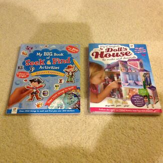 NEW Pirates and Doll House activity books