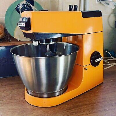 Vintage Retro Kenwood Chef Mixer Rare Orange & Brown With Bowl & 3 Attachments