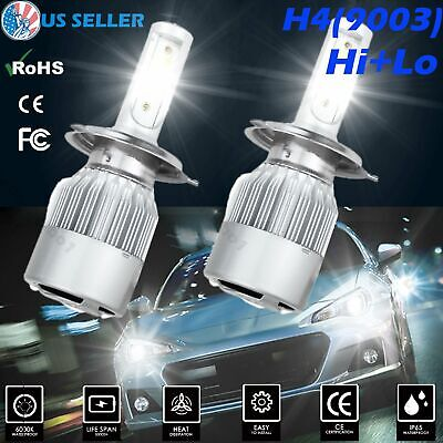 Pair H3 CREE LED Headlight Kit 1100W 159000LM Fog Light Beam Bulb 6000K Lamp