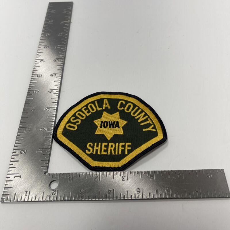 OSOEOLA COUNTY IOWA SHERIFF POLICE PATCH