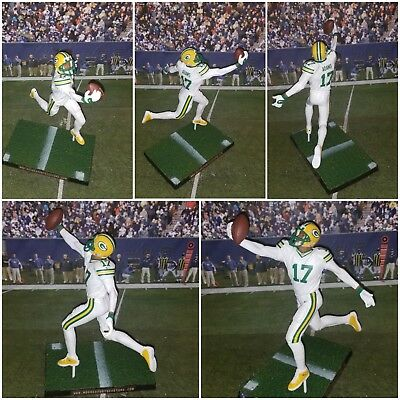 Custom D. Adams #17 WR GB Packers (Color rush uniforms) Mcfarlane figure   - Packers Uniforms