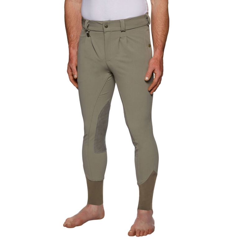 Derby House Elite Mens Pants Riding Breeches - Olive All Sizes