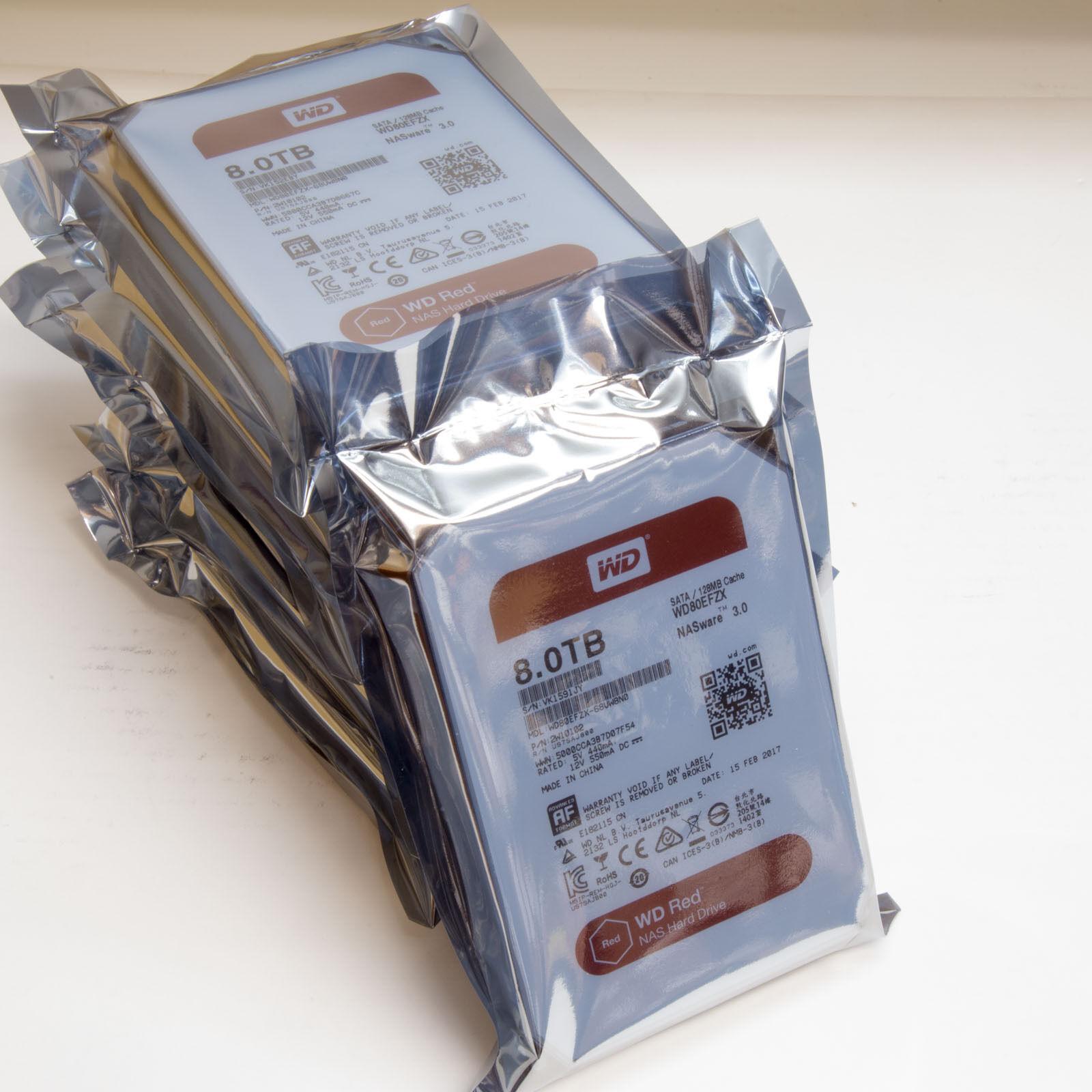 """WESTERN DIGITAL RED WD80EFZX 8TB NASware 3.0 3.5"""" SATA III"""