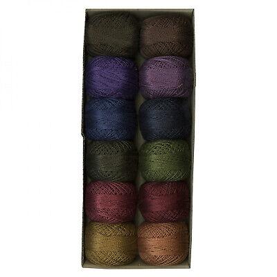 Valdani Perle Algodón Bolas Tamaño 12 Oscuro BIGSBY Diseños Colección