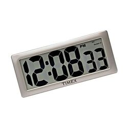Timex 75071TA2 13.5 Large Digital Clock with 4 Digits and Int... Free Shipping