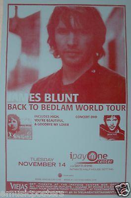 "JAMES BLUNT 2006 SAN DIEGO ""BEDLAM TOUR"" CONCERT POSTER"