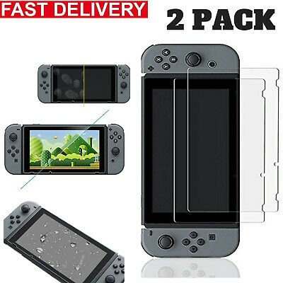 2 × Premium 9H Tempered Glass Clear Screen Protector For Nintendo Switch
