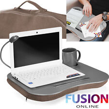 Laptop Lap Tray Breakfast Cushioned Led Light Soft Padded Portable Desk Notebook