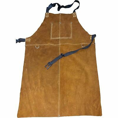 Ironton Leather Welding Apron - Extra Large Brown