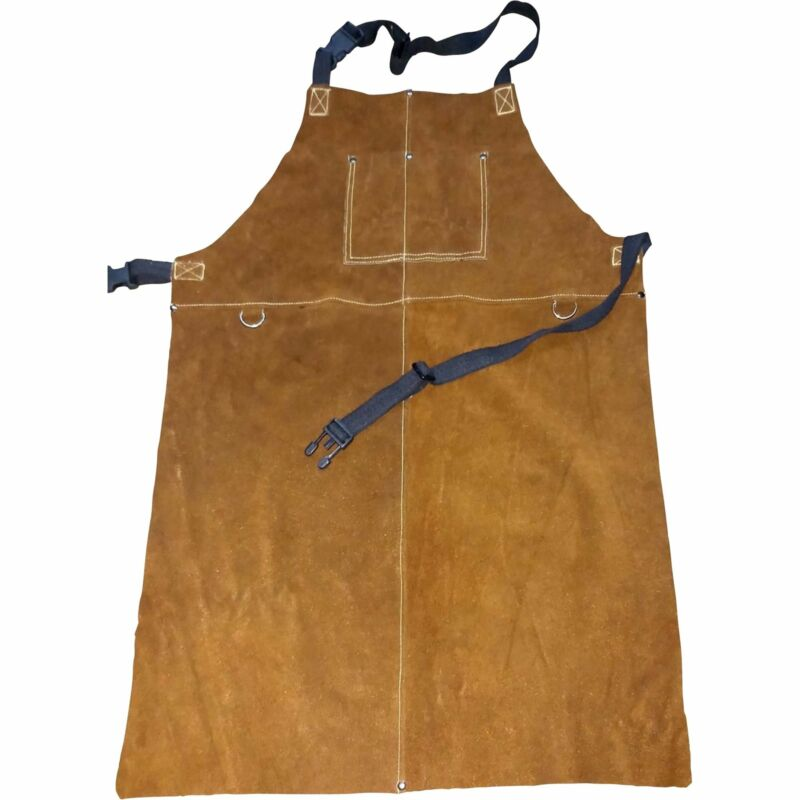 Ironton Leather Welding Apron - Extra Large, Brown