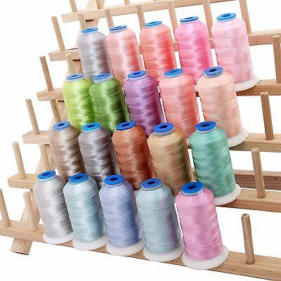 RAYON MACHINE EMBROIDERY THREAD SET 20 PASTEL COLORS - 1000M CONES - 40WT 40 Wt Rayon Embroidery Thread