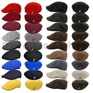 Authentic-Wool-KANGOL-100-Wool-504-Ivy-Cap-Hat-Style-0258BC-Sizes-S-M-L-XL-XXL