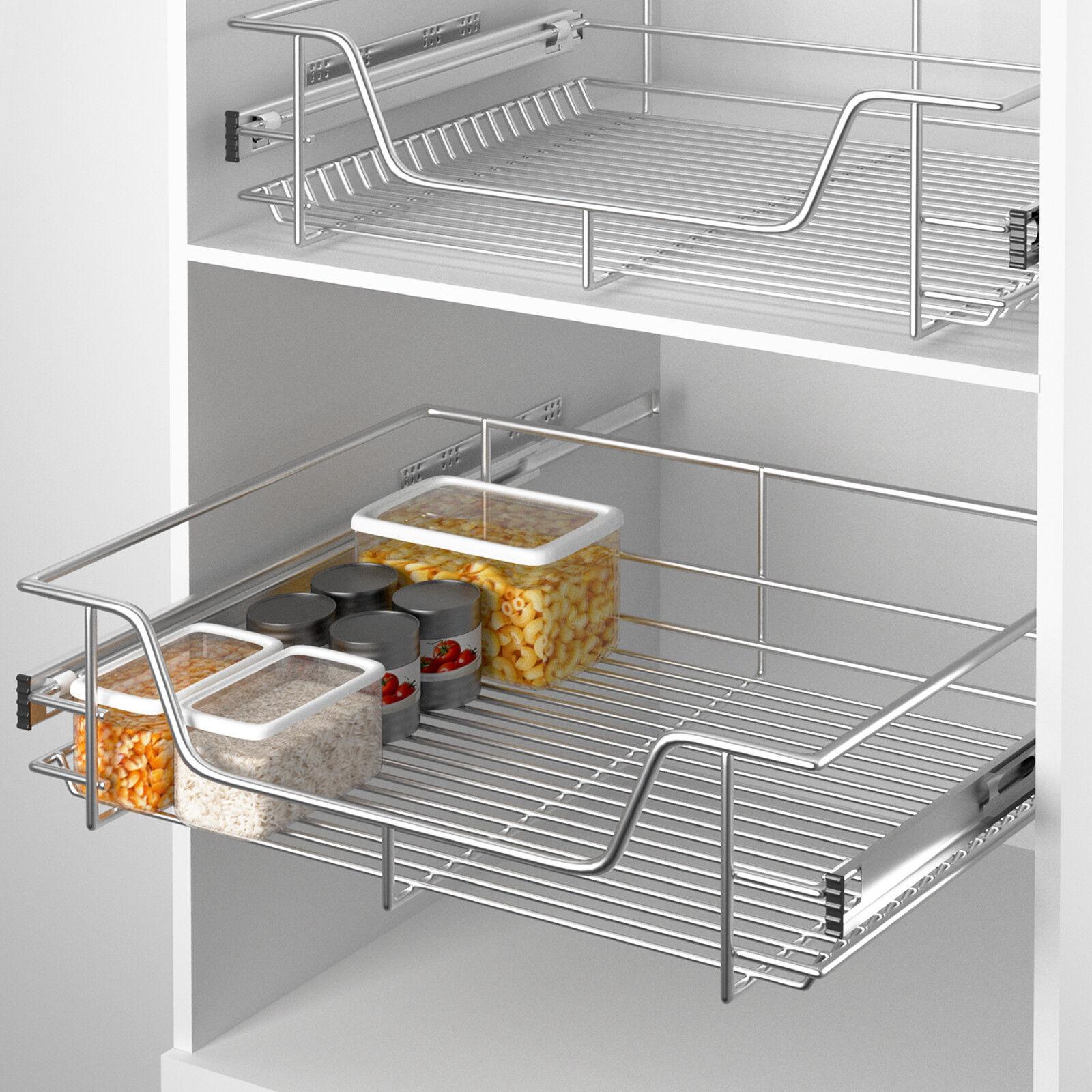 Panier de rangement coulissant cuisine meuble pour placard Etagere placard cuisine