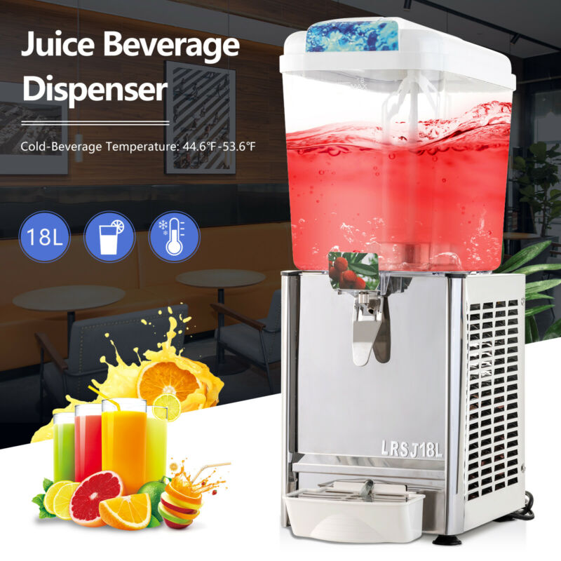 4.75 Gallon Commercial Juice Beverage Dispenser Cold Drink Coffee Fruit Ice Tea