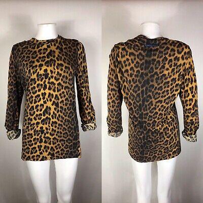 Jpg Vintage Long Sleeve - Rare Vtg Jean Paul Gaultier Jean's Leopard Long Sleeve Tee