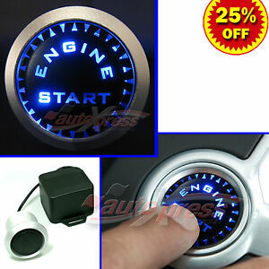 BLUE-Switch-UNIVERSAL-JDM-Ignition-ENGINE-STARTER-12V-Relay-PUSH-START-Button