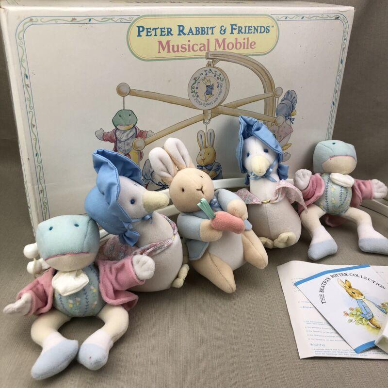 Parts ~ Eden Beatrix Potter Vintage Peter Rabbit & Friends Musical Crib Mobile