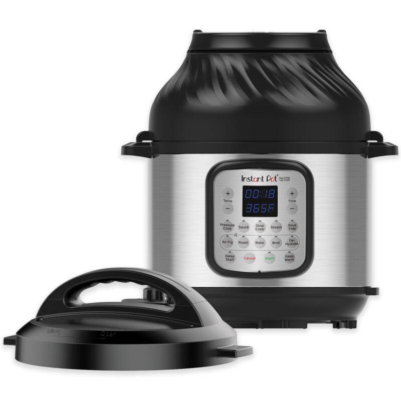 Instant Pot 6-Quart Duo Crisp, Air Fryer 11-in-1 Pressure Cooker