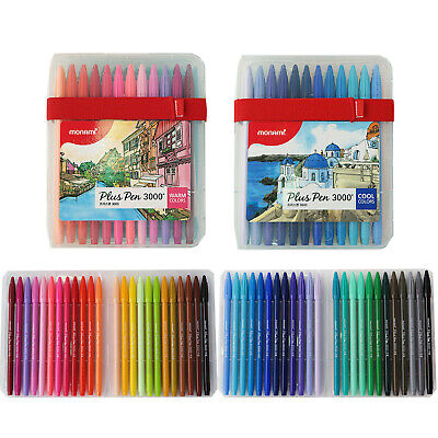 Monami Plus Pen 3000 Water-Based Coloring Marker 48 Colors SET