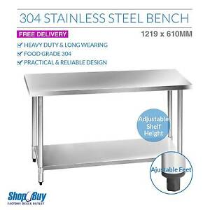 Brand New: Commercial 304 Stainless Steel Kitchen Work Bench Tab Sydney City Inner Sydney Preview
