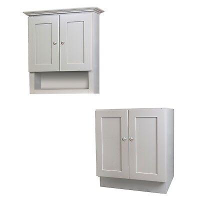 24 x 21 Grey Bathroom Vanity and Tank Topper Cabinet Set