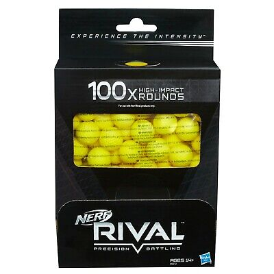 Nerf Rival 100-Round Refill Official High Impact Ammo Epic Nerf Wars