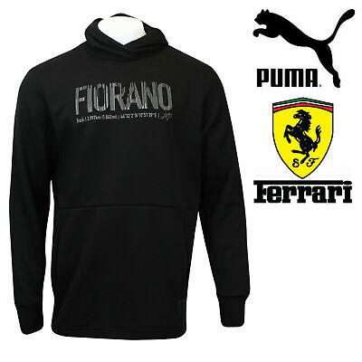 ✅24Hr DELIVERY✅Puma Ferrari Fiorano Hoodie Motorsport Hooded Sweatshirt Black ✅