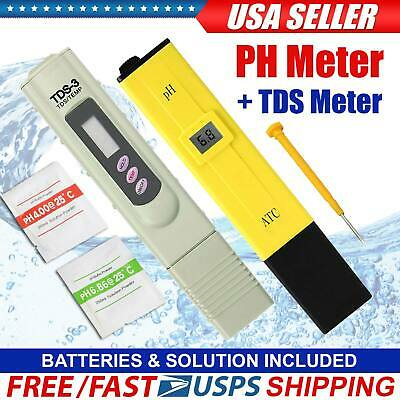 Portable Digital Ph Meter Tds Water Tester Aquarium Pool Hydroponic 0-9999 Ppm