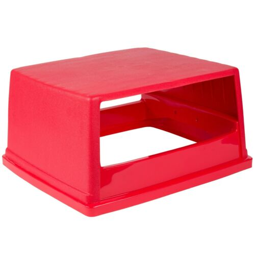 Rubbermaid FG256V00 RED Top w/o Doors for 256B Glutton Container - Free Shipping