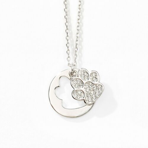 Touchstone Crystal Paws Off Necklace Item 1516N What's cuter than a puppy or kit