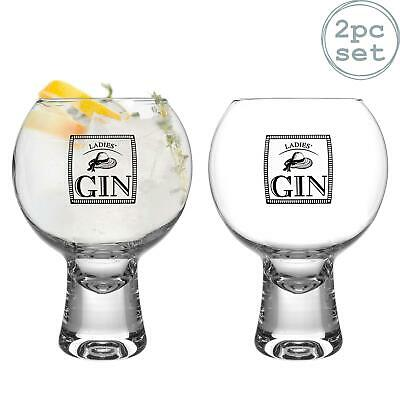 2x Ikonic Ladies Gin Glasses Short Stem Spanish Balloon Copa de Balon 540ml