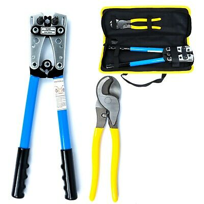 Battery Cable Lug Crimper Tool 6-50mm Wire Crimping Tool Pliers For Crimping